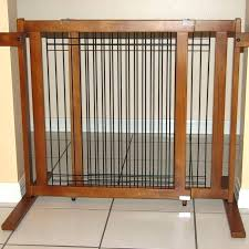 dog gate for large opening free standing baby tall freestanding wood wire pet diy