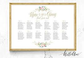 Seating Chart Wedding Amazon Com Malertaart Wedding Seating Chart Wedding Seating