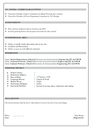 Resume Format In Word 2007 Resume Formats For It Freshers Resume Format For Freshers Download