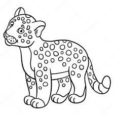 Disegni Da Colorare Piccoli Sorrisi Di Jaguar Del Bambino Sveglio
