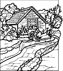 Small Picture Landscape coloring pages countryside house ColoringStar