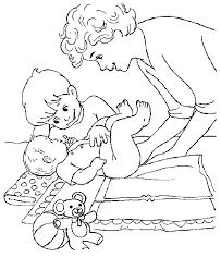 Kids N Fun Kleurplaat Baby Baby En Broertje
