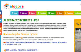 6 algebra 4 childreen com pre algebra worksheets grade 10 math algebra worksheets