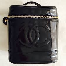 chanel vanity case bag. authentic chanel patent leather vanity case chanel bag s