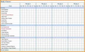 Chore List Template Shatterlion Info