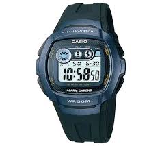 buy casio men s lcd digital blue case black strap watch at argos casio men s lcd digital blue case black strap watch461 0283