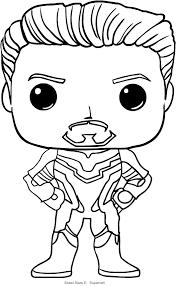 Disegno Di Tony Stark Di Funko Avengers Endgame Da Colorare