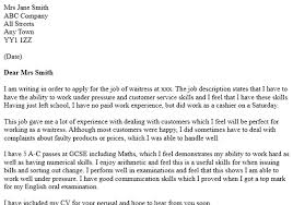 Waitressing Cover Letter Best Ideas Of Example Cover Letter For ...