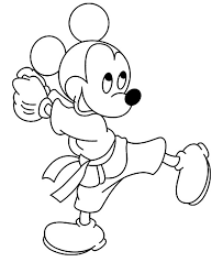 Small Picture Disney Mickey Does Karate Coloring Pages Batch Coloring