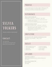 Gray Bordered Minimalist Resume Templates By Canva Adorable Minimalist Resume
