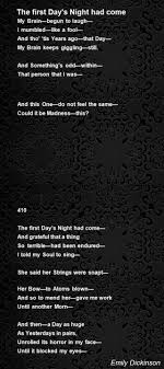 the first day s night had come poem by emily dickinson poem hunter