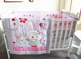 7pcs embroidery baby cot crib bedding set embroidery baby sheet pers include per duvet bed cover bed skirt in bedding sets from mother kids on