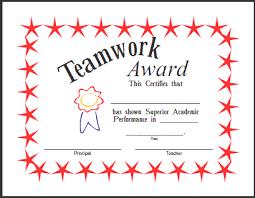 Teamwork Certificate Templates Free Teamwork Award Certificate Templates Playinterchange Com