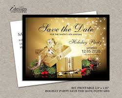 Christmas Party Save The Date Templates Printable Christmas Or Holiday Party Save The Date Gift