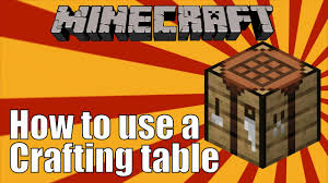 Crafting tables in Minecraft