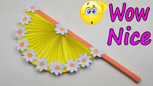 diy arts and crafts how to make diy hand fan out of color papers diy paper craft