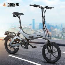 <b>DOHIKER 16 inch</b> Folding <b>Electric</b> Bicycle Bike E-bike 250W 36V ...