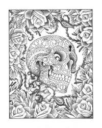 Small Picture Sugar Skulls Coloring Pages Printable Coloring Pages Paper