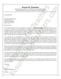 School Administrator Cover Letter Assistant Principals Cover Letter Example Cover Letter