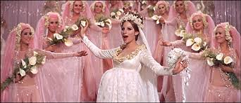 Beautiful bride funny girl