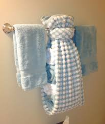 Folded hanging towel Washcloth Creative Ways To Display Towels In Bathroom Hand Towel Display For Guest Bath For Pinterest Creative Ways To Display Towels In Bathroom Hand Towel Display For