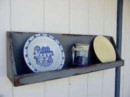 primitive shelf rustic shelf plate rack