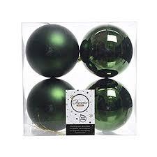 Christbaumkugeln Pvc 10cm 100mm Grün Piniengrün Kunststoff Plastik Weihnachtskugeln Baumkugeln Baumschmuck Weihnachtsdeko Weihnachten