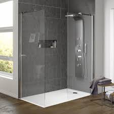 Shop the Aurora Walk In Shower Enclosure with Side Panel & Tray. A  fantastic way