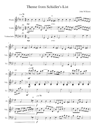 Theme from Schindler's List sheet music for Flute, Violin ...