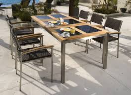 view the full image 6 seater teak and stainless steel glass outdoor dining set