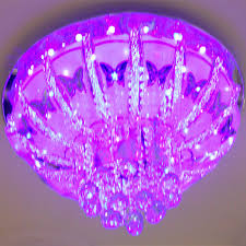 crystal chandeliers and low pressure lamp pendant lamp color changing crystal lights with remote control