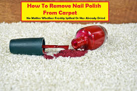 remove nail polish from carpet