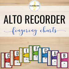 Treble Recorder Note Chart Alto Recorder Worksheets Teaching Resources Teachers Pay