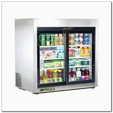 commercial glass door refrigerator freezer combo