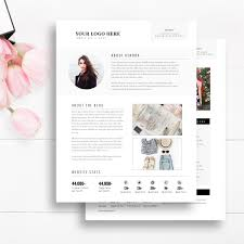 cv template media kit template 2 page blogger media kit blog media press kit template indesign photoshop word instant