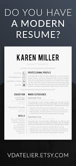 29 Best Modern Resume Templates Images On Pinterest Modern