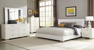 felicity low profile bedroom set w led light  bedroom sets