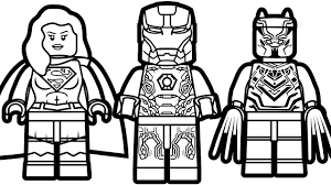 Small Picture Lego Iron Man vs Lego Supergirl vs Lego Black Panther Coloring