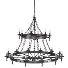 warwick 18 light chandelier elstead lighting