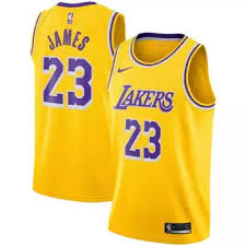 _nike Basketball Jersey Los Angeles Lakers Lebron James 23 Black Mvp Swingman Wholesale Price Nba Authentic Male
