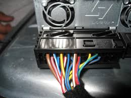 diy adding an amp and subwoofer now unplug the amp so that its easier to work the clip just slides out