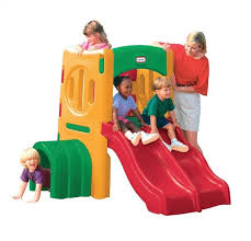 little tikes double slide and tunnel