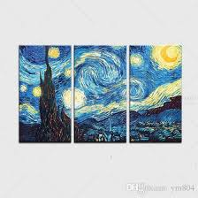 2018 framed starry night by vincent van gogh hand painted abstract landscape wall decor art oil painting on quality canvas multi size vg025 from ym804