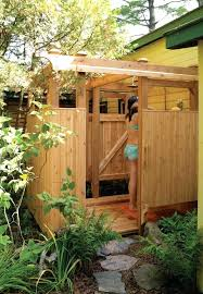 diy outdoor shower free outdoor shower plans outdoor shower enclosure ideas diy