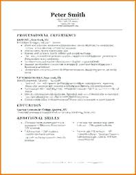 Basic Resume Format Examples Simple Job Resumes Simple Job Resume ...
