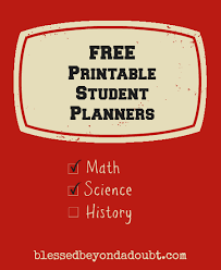 homework planner template pdf free printable student planners for back to school blessed beyond
