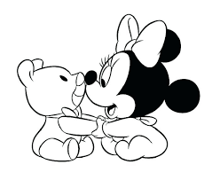 Dazzling Design Inspiration Baby Minnie Mouse Coloring Pages Free