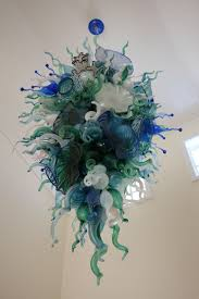 custom made sea life series hand blown glass art chandeliers chihuly style