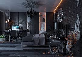 black bedroom. Full Size Of Bedroom:modern Black Bedroom Is Styled In Neo Gothic And Decorated