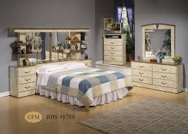 Mirror Headboard 9 Piece Bedroom Set - Dream Furniture
